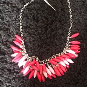 Brand new! Pink two tone necklace